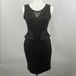 ALMOST FAMOUS Bodycon Black Studded Dress